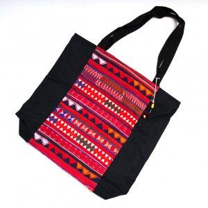 アカ族刺繍の大判トートバッグ Type.2