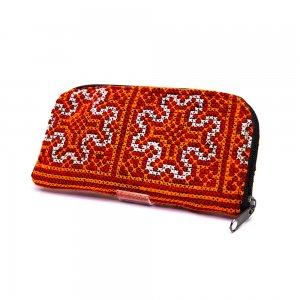 ベトナム モン族カラフル刺繍 長サイフ(B)