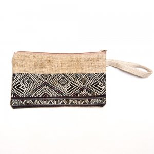 ベトナム 赤ザオ(ヤオ)族 手刺繍 長方形ポーチ(B)