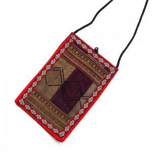 ベトナム 赤ザオ(ヤオ)族 手刺繍 パスポートポーチ(A)