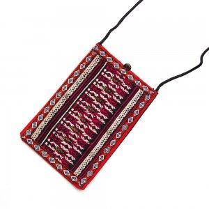 ベトナム 赤ザオ(ヤオ)族 手刺繍 パスポートポーチ(B)
