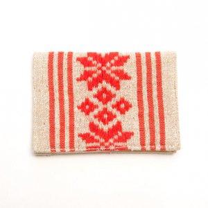 ベトナム ターイ族 手織り カードケース(C)