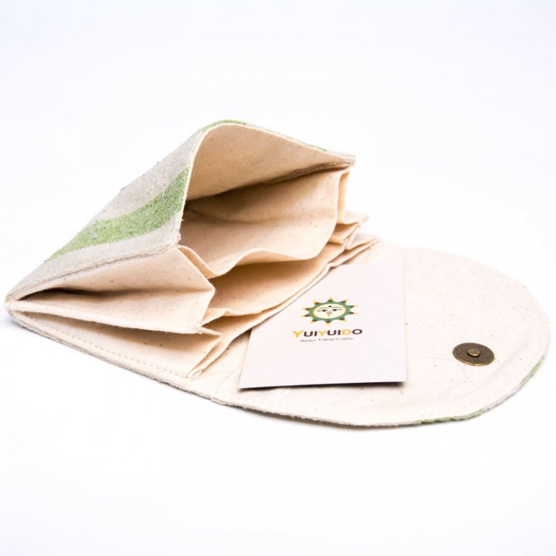 ベトナム ターイ族 手織り 蓋付きカードケース(A)