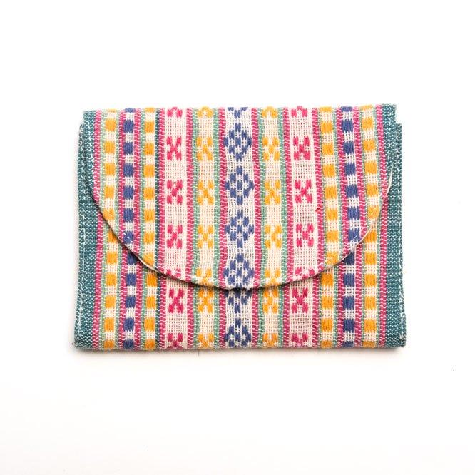 ベトナム ターイ族 手織り 蓋付きカードケース(D)