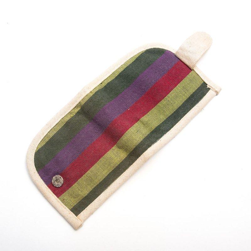 ベトナム ターイ族 手織り布 カードケース