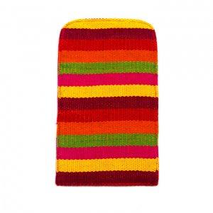 ベトナム チャウマ族 手織り カラフル スマホポーチ(B)