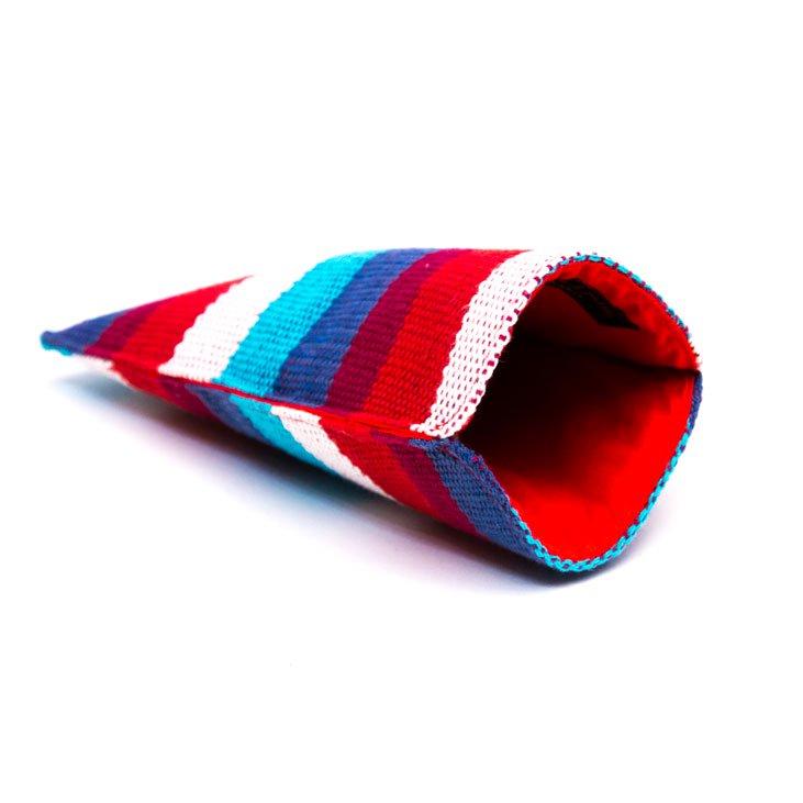 ベトナム チャウマ族 手織り カラフル スマホポーチ(C)