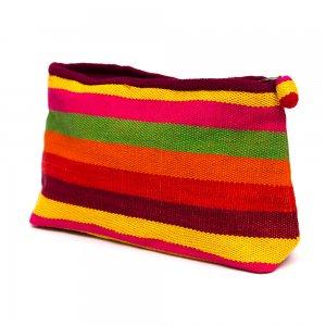 ベトナム チャウマ族 手織り カラフル コスメポーチ(B)