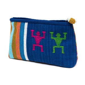 ベトナム チャウマ族 手織り カラフル コスメポーチ(C)