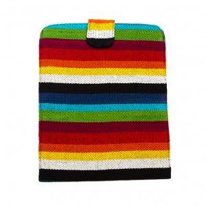 ベトナム チャウマ族 手織り カラフル タブレットケース(B)