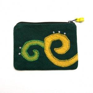 ベトナム ヌン族 手刺繍 ミニポーチ(A)