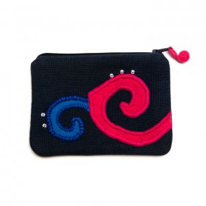 ベトナム ヌン族 手刺繍 ミニポーチ(B)