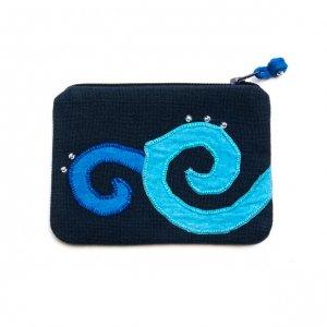 ベトナム ヌン族 手刺繍 ミニポーチ(C)