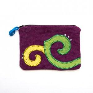 ベトナム ヌン族 手刺繍 ミニポーチ(D)