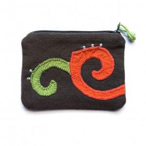 ベトナム ヌン族 手刺繍 ミニポーチ(E)