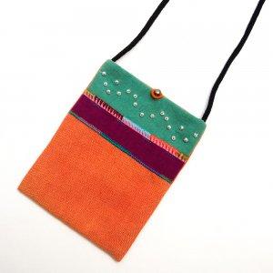 ベトナム ヌン族 手刺繍 パスポートポーチ(A)