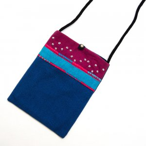 ベトナム ヌン族 手刺繍 パスポートポーチ(B)