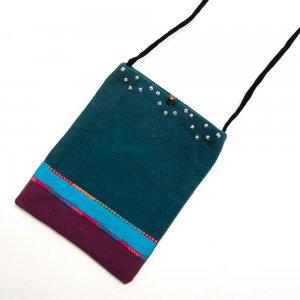 ベトナム ヌン族 手刺繍 パスポートポーチ(C)