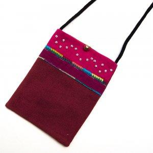 ベトナム ヌン族 手刺繍 パスポートポーチ(D)