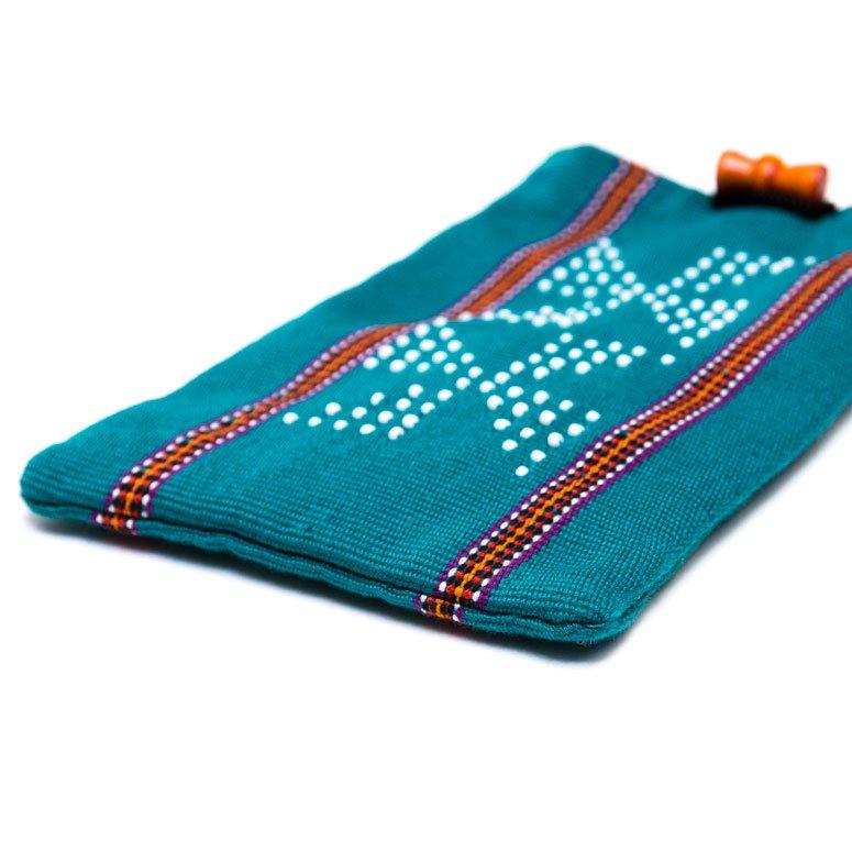ベトナム カトゥー族 手織りドット柄 スマホポーチ