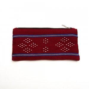 ベトナム カトゥー族 手織りドット柄 ペンケース(B)