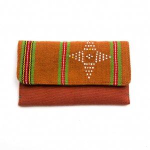 ベトナム カトゥー族 手織りドット柄 カードケース