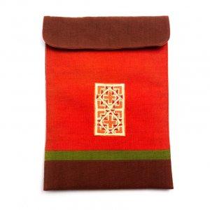 ベトナム 白モン族 手刺繍 クッション タブレットケース(A)
