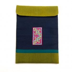ベトナム 白モン族 手刺繍 クッション タブレットケース(B)