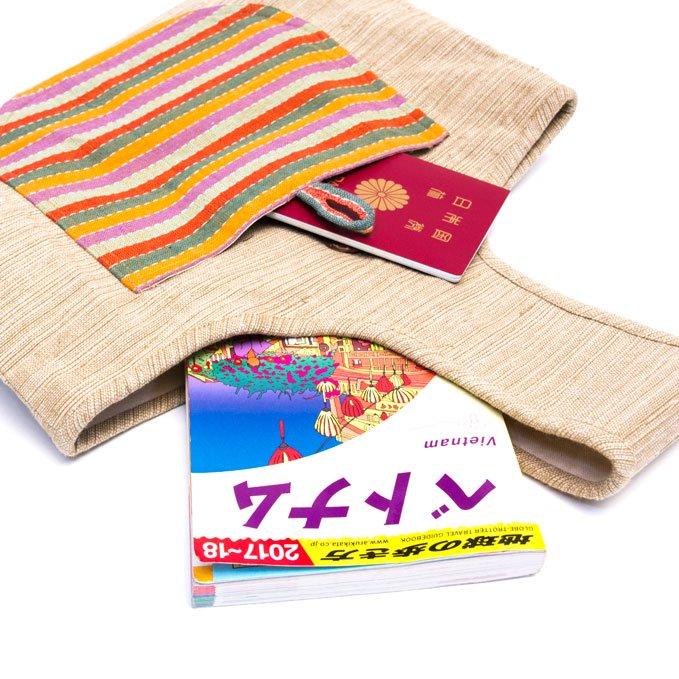 ベトナム ターイ族 手織り 手提げバッグ