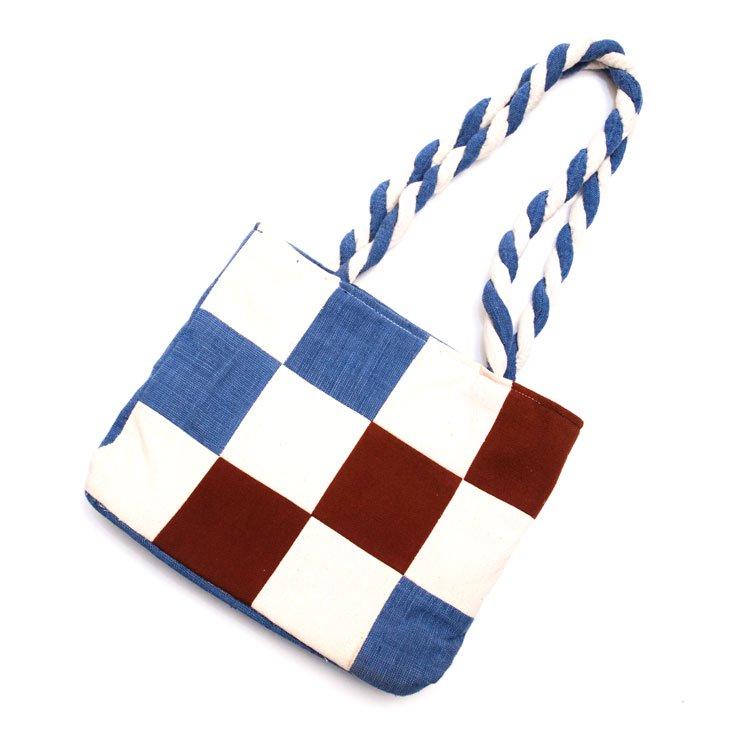 ベトナム ターイ族 手織り 編み紐バッグ(A)