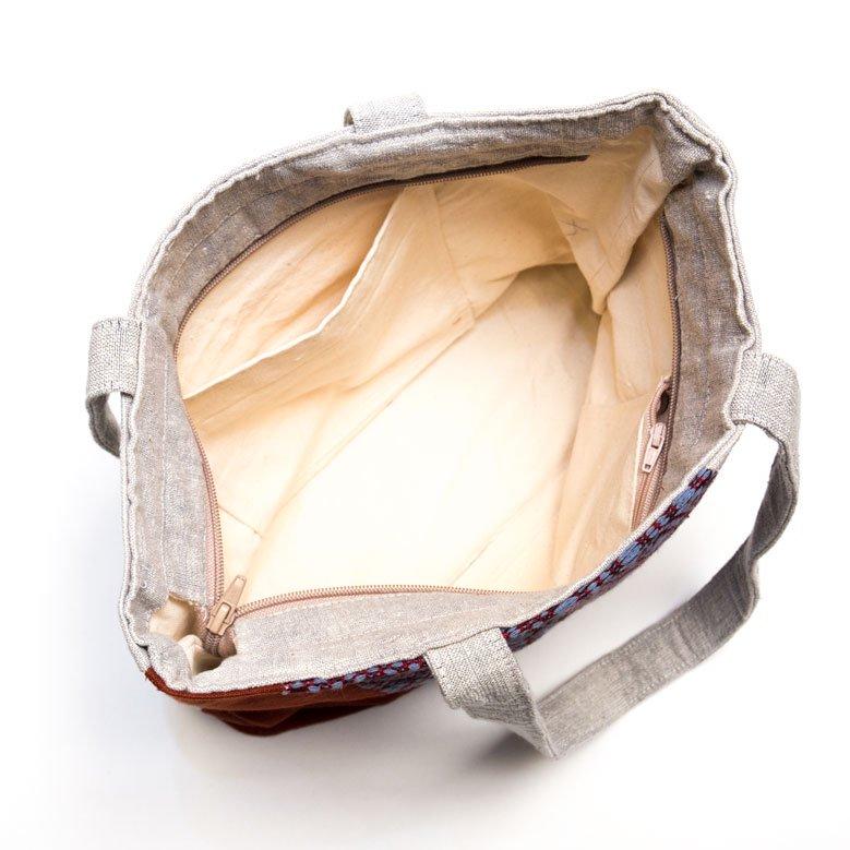 ベトナム ターイ族 手織り 大人トートバッグ(A)