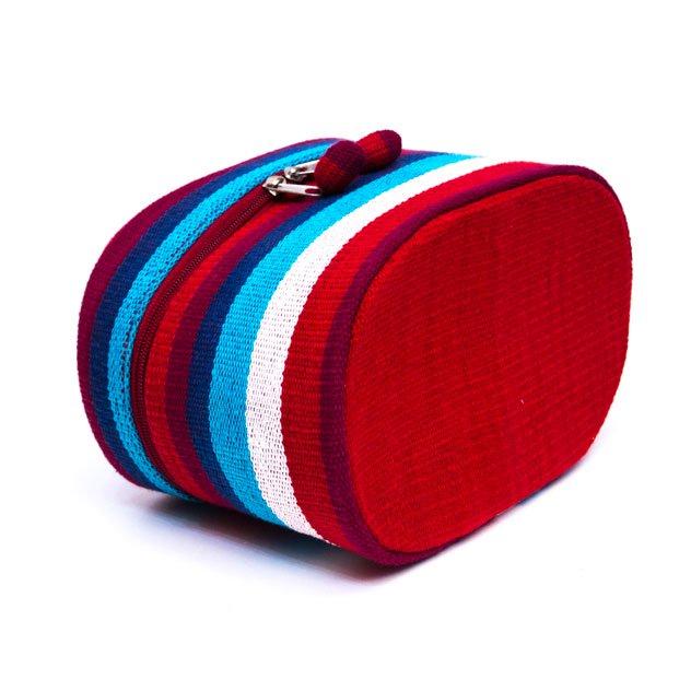 ベトナム チャウマ族 手織り カラフル コスメバッグ(A)