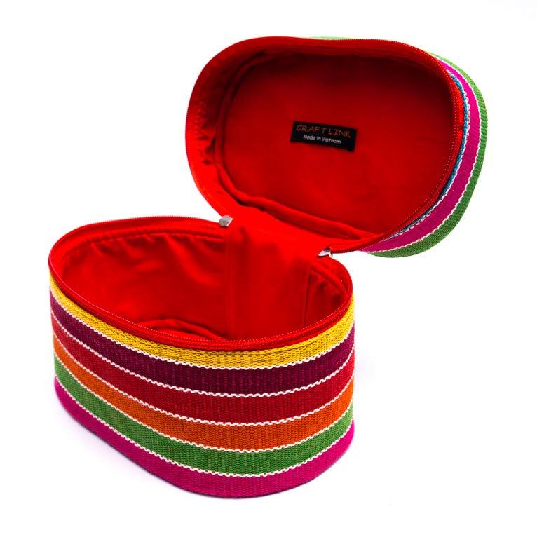ベトナム チャウマ族 手織り カラフル コスメバッグ(B)