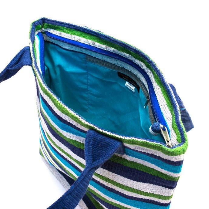 ベトナム チャウマ族 手織り カラフル トートバッグ