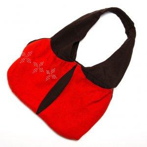 ベトナム カトゥー族 手織りドット柄トートバッグ(A)