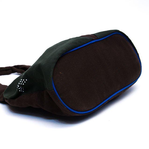 ベトナム カトゥー族 手織りドット柄トートバッグ(B)