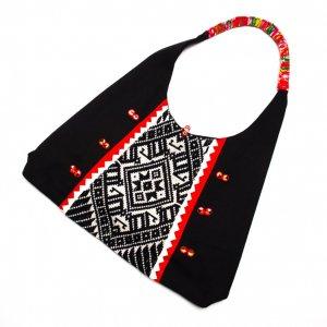 ベトナム ターイ族 手織り トートバッグ