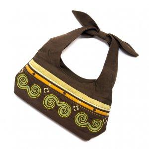 ベトナム 白モン族 手刺繍 手提げランチバッグ