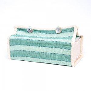 ベトナム ターイ族 手織り ティッシュカバー(A)