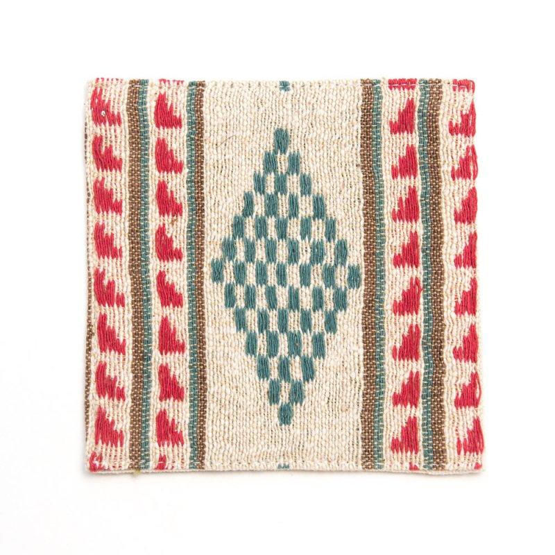 ベトナム ターイ族 手織り コースター