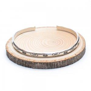 【カレン族シルバー バングル】パドゥア(phadua)が刻印されたアクセサリー