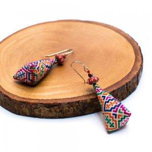 ThongPua モン族ビンテージ刺繍ピアス Type.2