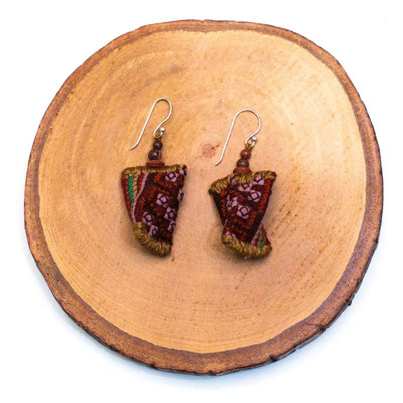 画像3:ThongPua モン族ビンテージ刺繍ピアス