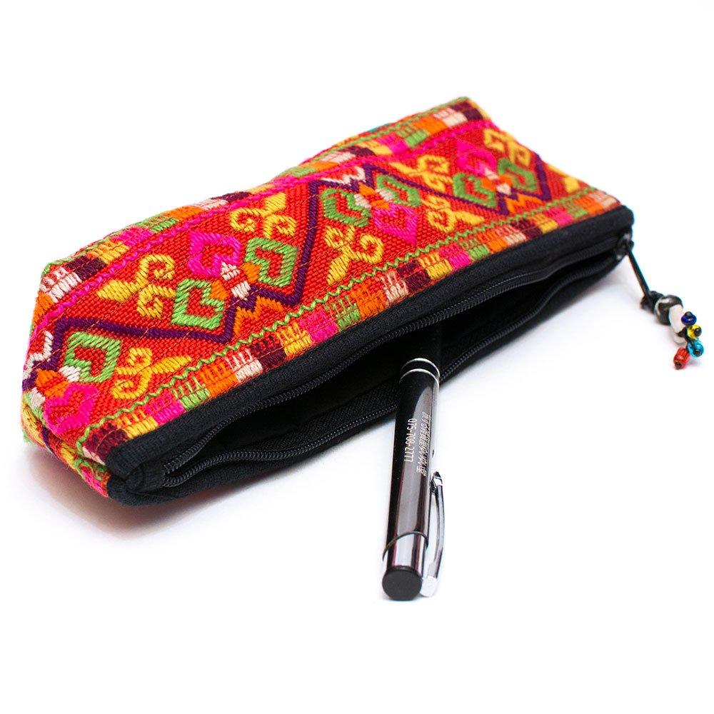 ThongPua モン族刺繍古布ペンケース Type.2