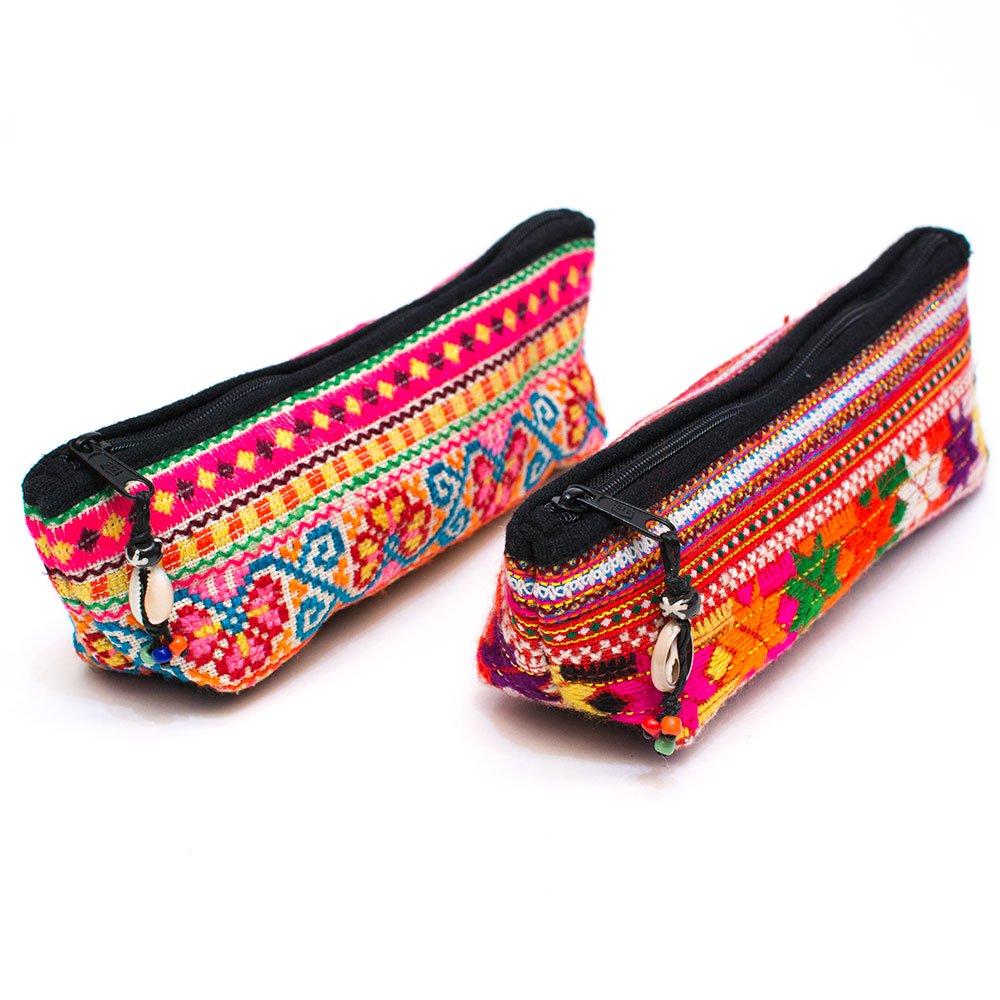 ThongPua モン族刺繍古布ペンケース Type.3