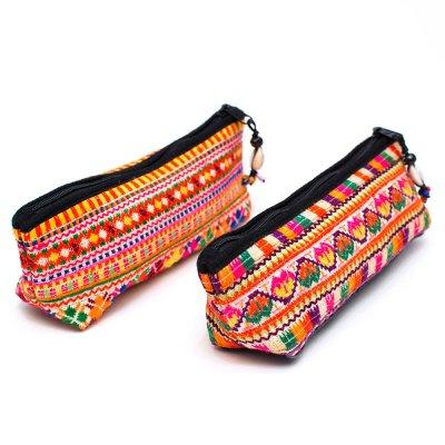 ThongPua モン族刺繍古布ペンケース Type.4