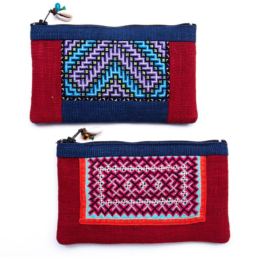 ThongPua モン族刺繍古布ペンケース Type.5