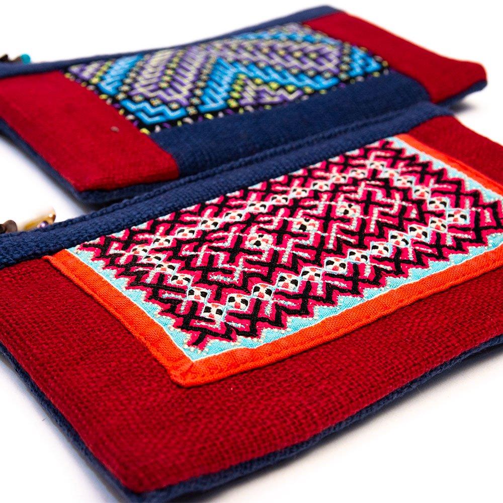 画像2:ThongPua モン族刺繍古布ペンケース Type.5