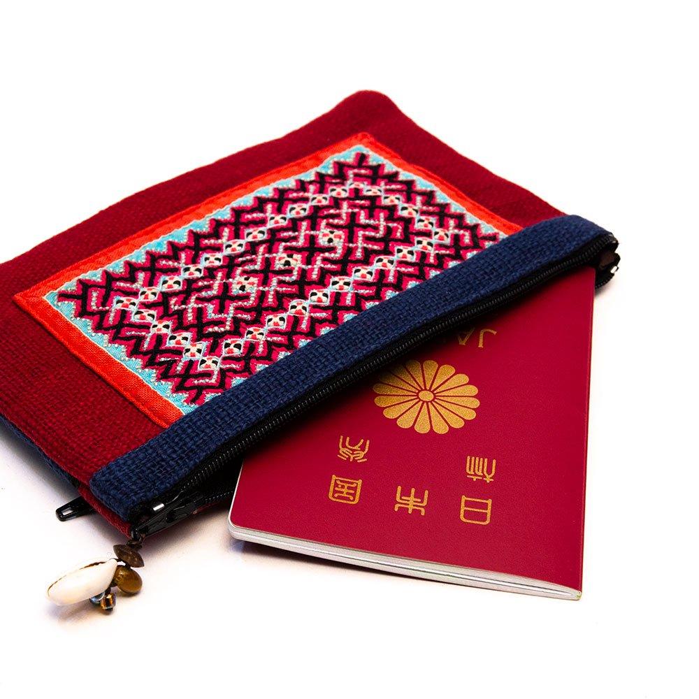 画像3:ThongPua モン族刺繍古布ペンケース Type.5