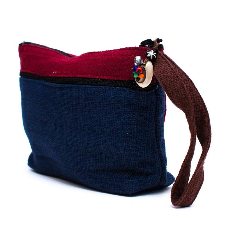 ThongPua モン族刺繍古布のバッグインバッグ(S) Type.1